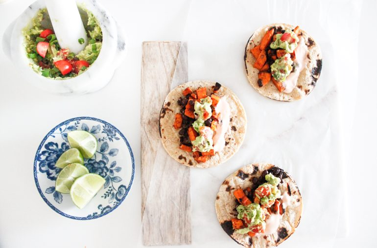 easy sweet potato tacos