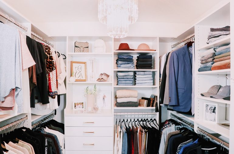 Our Master Closet Renovation Designed by Inspired Closets!