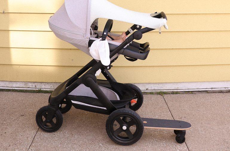 review: Stokke Trailz stroller + sibling board